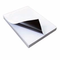 5 Folhas Manta Iman Magnética Adesivada Brilhante A4 Oferta