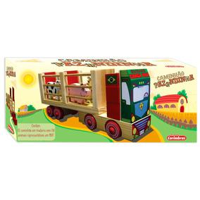 Caminhão Fazendinha Em Madeira- Brinquedo Educativo