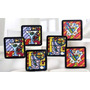 New Romero Britto Martini Cocktail Juego De 6 Posavasos De