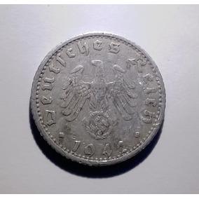 Alemania Nazi 50 Reichspfennig 1942 F Tercer Reich