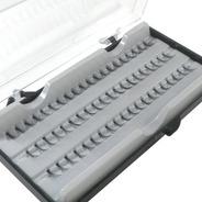 60 Cílios Postiços Em Tufos Médios 10mm Alongamento
