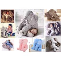Almofada Baby Elefante Travesseiro Pelucia - 60cm