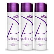 Kit 3un Shampoo Platinum Matizador Masc Professional 250g