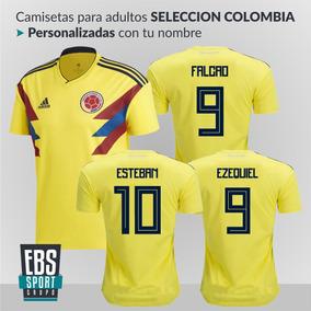 Camiseta adidas Mundial Selección Colombia Con Nombre Niños