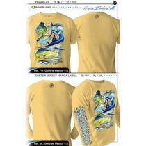 Camisas Pesca Y Playa Manga Corta Y Larga Varios Colores