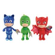 Set 3 Peluches Pj Masks - Gekko - Owlette - Catboy.