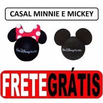 Mickey E Minnie Casal Disney - Enfeite De Antena - Original