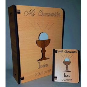 Cajita Libro Primera Comunión Souvenir No Necesita Pintar