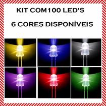 Kit 100 Peças Led 5mm Alto Brilho - Varias Cores Disponiveis