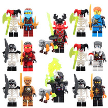 Sw5 Ninjago Jay Kai Cole Zane Gold Skele Compatible Con Lego
