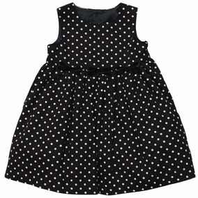 Carters Vestido De Fiesta Niña, Talla 12 Meses Negro Boleado