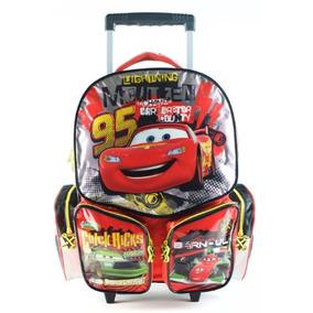 Mochila Cars 17 Pulgadas Con Carro 81159 Mejor Precio!!