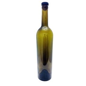 Botella Vino Tapa Plastica Con Corcho 750 Ml 12 Pz