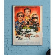 Quadro Era Uma Vez Em Hollywood Em Tela De Pintura 30x40