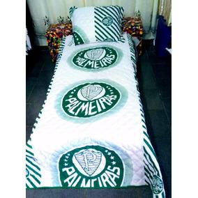 Cobre Leito Do Palmeiras 1 Cobreleito 1 Travesseiro 1 Fronha