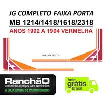 Faixa Porta Caminhão Mb 1418 1618 2318 1992... Vermelha (jg)