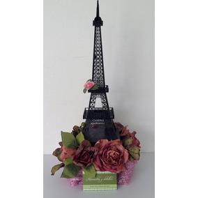 Centro De Mesa Torre Eiffel Con Flores