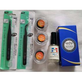 Kit Profissional Alongamento De Cílios Fio A Fio +cola Azul