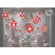 Vinilos Decorativo Vidrieras Navideñas  Felices Fiestas N1