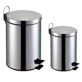 Lixeira Inox - Kit 2 Peças 3l E 5l - Home&garden