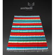 Sarape Artesanal Mexicano 2.1 M X 1.55 M Variedad De Colores