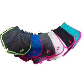Kit 10 Shorts Feminino Moleton 100% Algodão, Nike