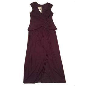 Vestido De Fiesta Madrina Largo Violeta / Berenjena Talle 16