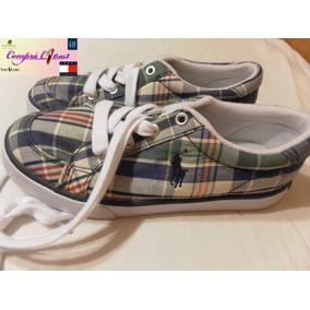 Zapatillas Nene Tenis, Polo Ralph Lauren Escocesa Verde/azul