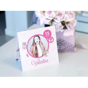 Convite Aniversário Debutante 15 Anos Rosa Pink Com Foto