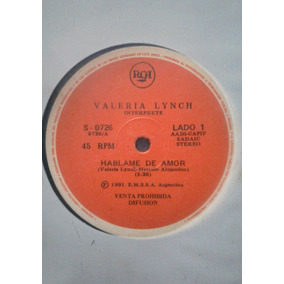 Disco Simple Valeria Lynch - Hablame De Amor