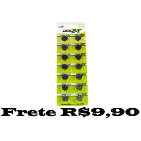 Kit Com 5 Cartelas Bateria Lr44 Ag13 70 Unidades Total
