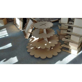 Base Con Onditas Perfecta, Material Mdf 3mm