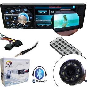 Radio Automotivo Bluetooth Com Camera De Re Mp5 Lcd Controle