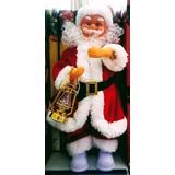 Papai Noel Musical Com Lampião 52 X 17cm