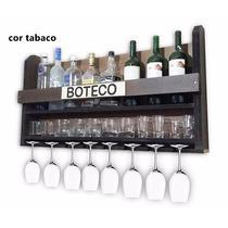 Adega De Madeira Parede Bar Barzinho Suporte Vinhos