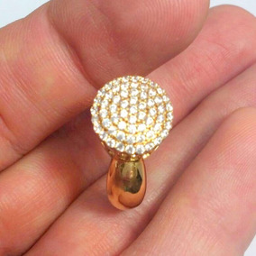 c73045f99a25b Anel Pavê Chuveiro Ouro Amarelo 18k Com 61 Pedras Zirconias. R  1.199