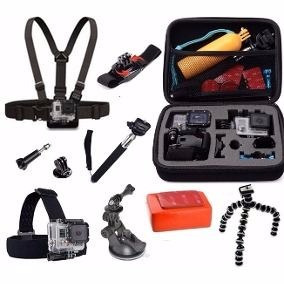 Kit De Acessorios Gopro C/ Maleta Case Hero 5 Black 4 Silver
