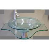 Gabinete - Lavabo -lavatório - Cuba Vidro - Tampo Desenhado