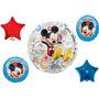 Globos Metalizados Bouquet De Minnie Y Mickey