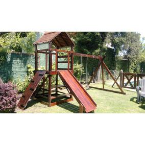 juegos en madera hamacas toboganes p jardines y colegios