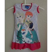Vestido Infantil Malha Estampa De Princesa Vestido De Verão