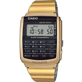 b13cdad8e7f Relógio Cásio Calculadora Dourado - Relógio Casio no Mercado Livre ...