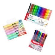 Kit Escritura Pastel, Boligrafos Y Rotuladores - 40 Unidades