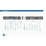 Calendario 2018 Santoral Serie S3