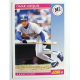 Barajita Omar Vizquel Mariners 1992 Score92 Nueva