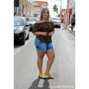 Kit De Jeans Plus Size 1 Calça/ 1 Bermuda/ 1 Shorts 189,90