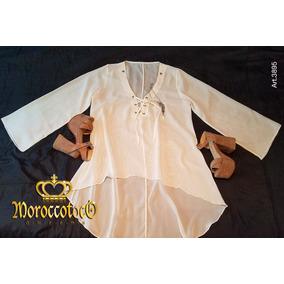 Camisola Blusa Tunica Vestido Sexy Gasa Importado Art 3895