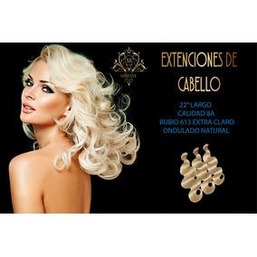 Cabello 100% Humano Extensiones 22 Calidad 8a Rubio 613