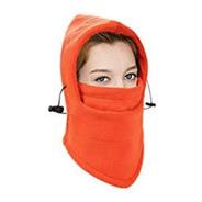 Mascara Termica Balaclava Naranja 6en1 Bufanda Moto Frio