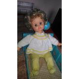 Boneca Bebê Estrela Nana Nenê Antiga Com Berço